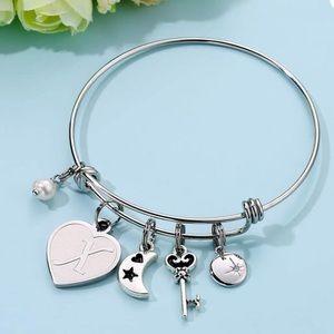 M MOOHAM women's bracelet with initial bracelet X